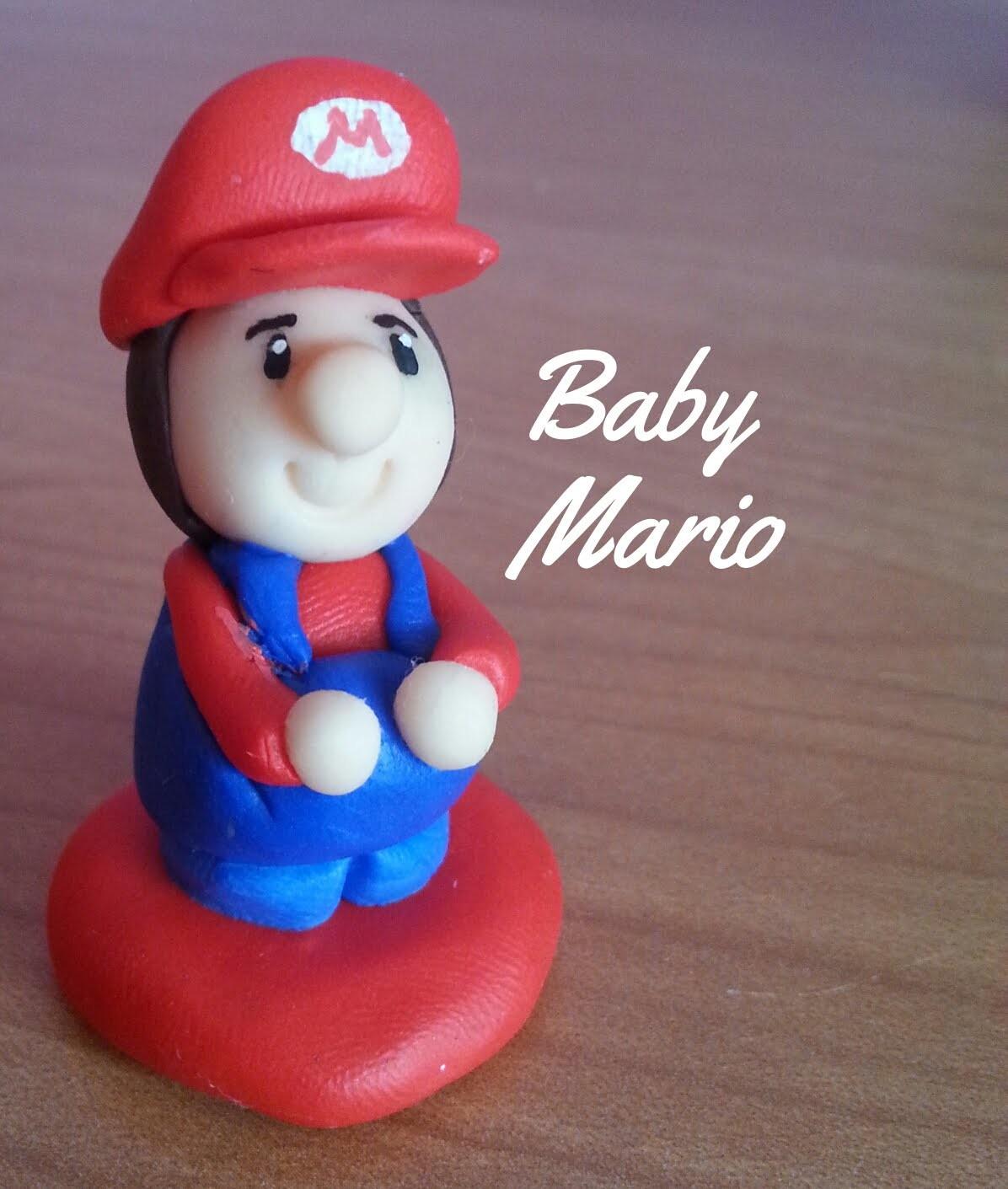 Baby Mario  (fimo-polymer clay)