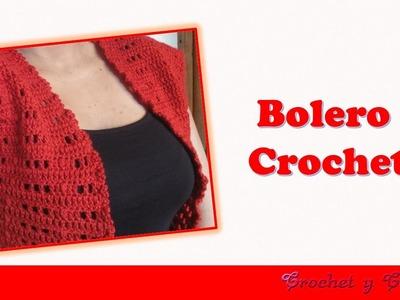 Bolero Tejido a Crochet con Botón o Cinta
