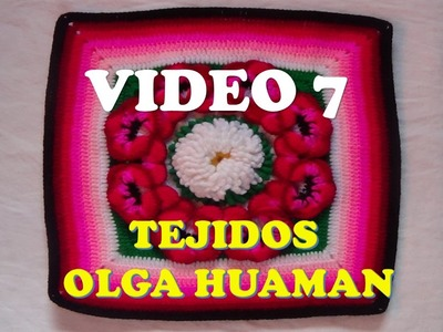 "Colcha a crochet: video 7, muestra ""PENSAMIENTO"""