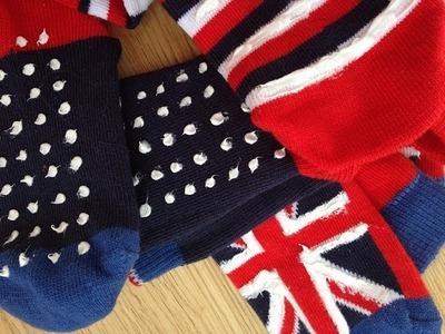 Cómo hacer calcetines antideslizantes