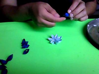 Como hacer la flor kanzashi paso por paso