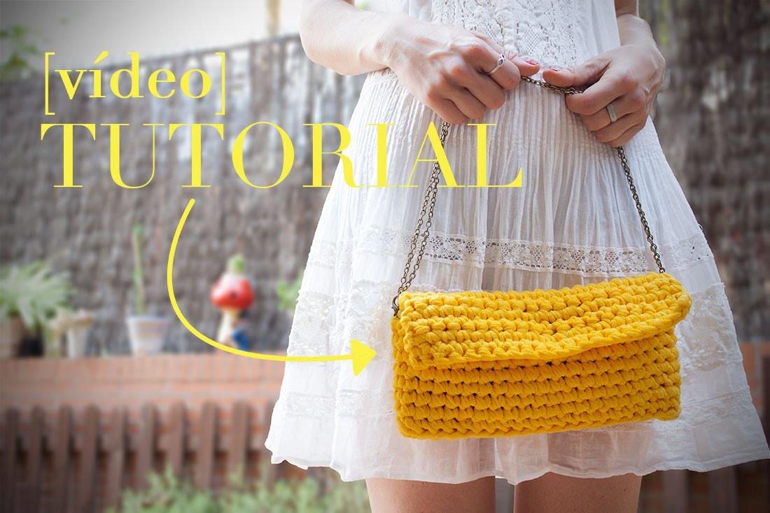 Cómo hacer un bolso fácil de ganchillo   How to make a crochet purse