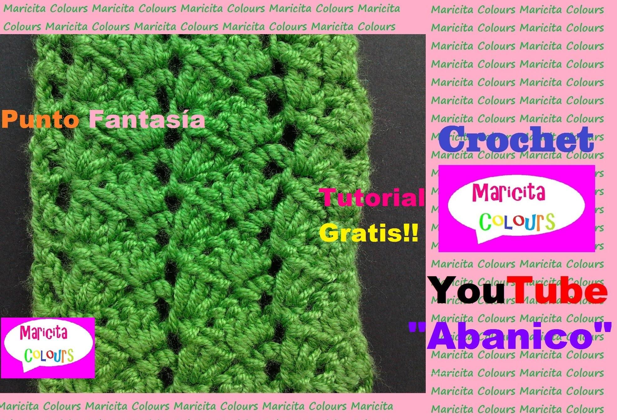 "Crochet Tutorial ""Abanico""  Punto Fantasía por Maricita Colours"