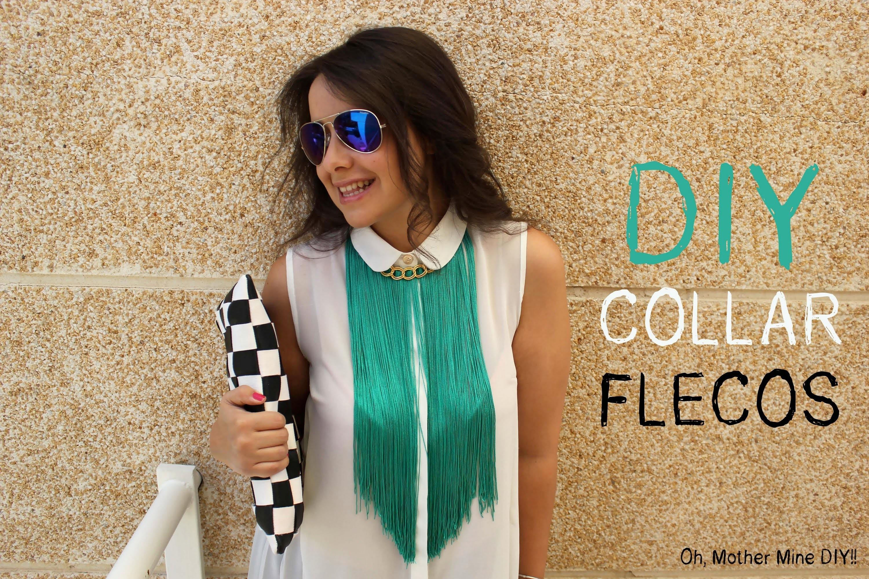 DIY: collar de flecos. How to make a fringed necklace