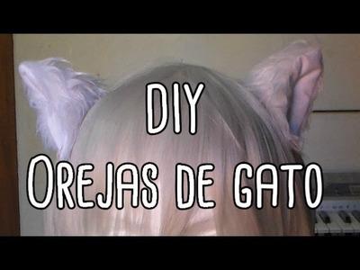 DIY: Orejas de gato con pasadores para cosplay