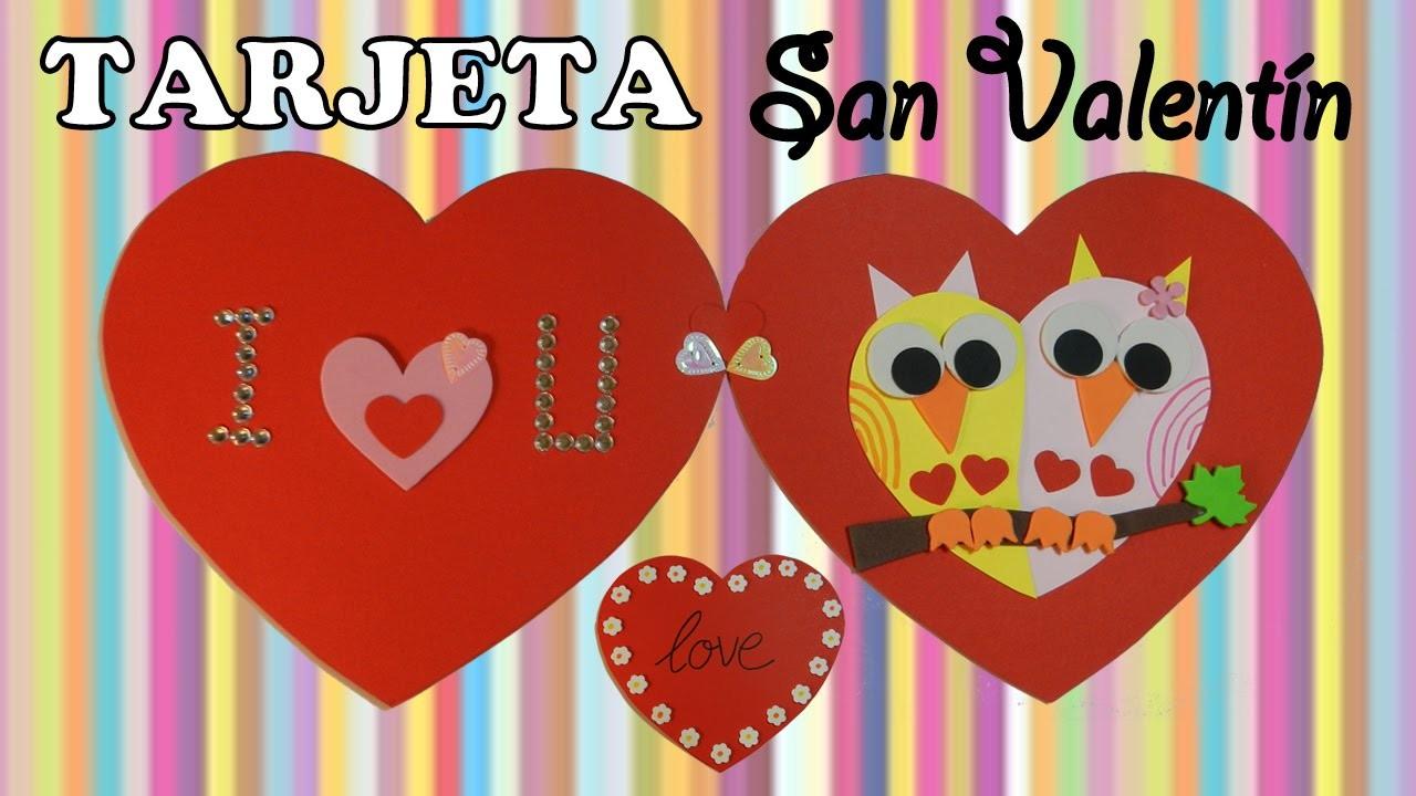 DIY: Tarjeta San Valentín. Valentines card. Tutorial.
