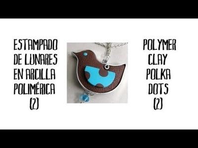 Estampado de lunares en arcilla polimérica (2) - Polymer clay polka dots (2)
