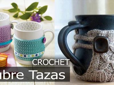 Fundas Cubre Tazas - Tejidas a Crochet ( imagenes Diseños e Ideas )