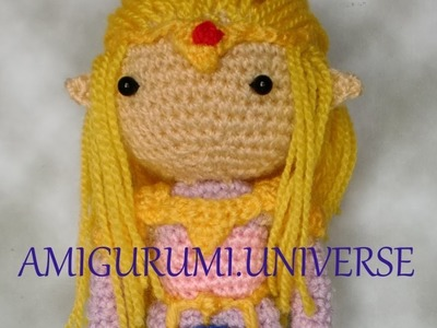 How to add hair by Amigurumi.Universe. Tutorial cabello liso amigurumi.