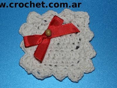 Iman Mini Carpeta para heladera en tejido crochet tutorial paso a paso.