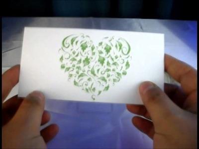 Invitaciones de Boda Corazón Pop Up (floral)