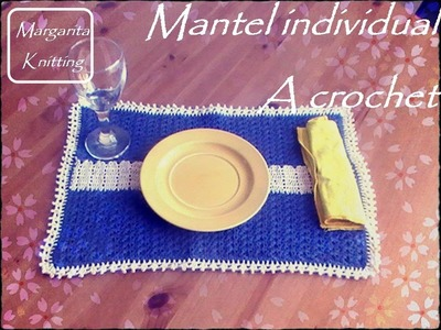 Mantel individual a crochet (diestro)