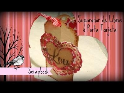 Manualidad Scrapbook Separador de Libros de San Valentin