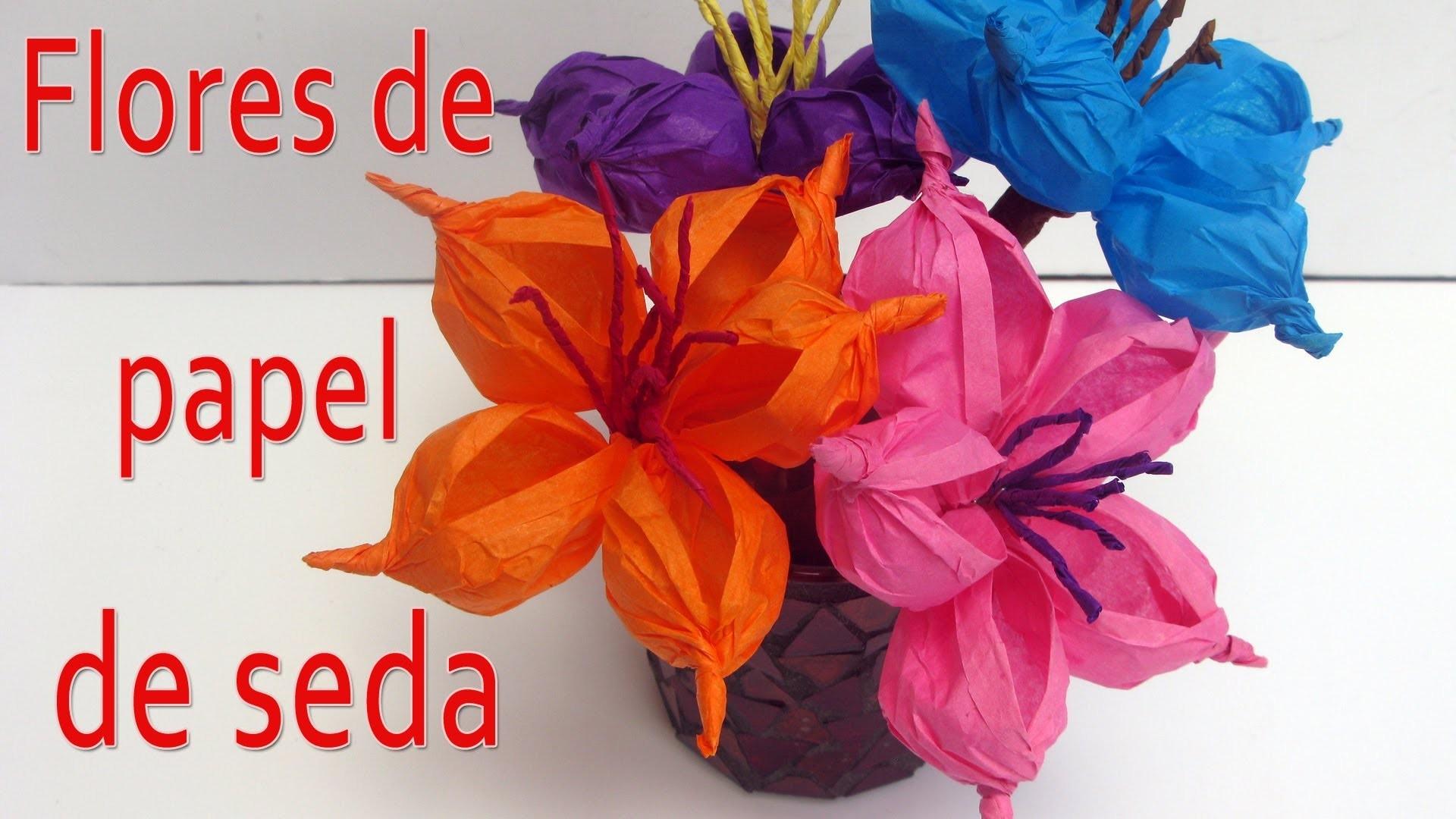 Manualidades : Cómo hacer flores de papel - Manualidades para todos