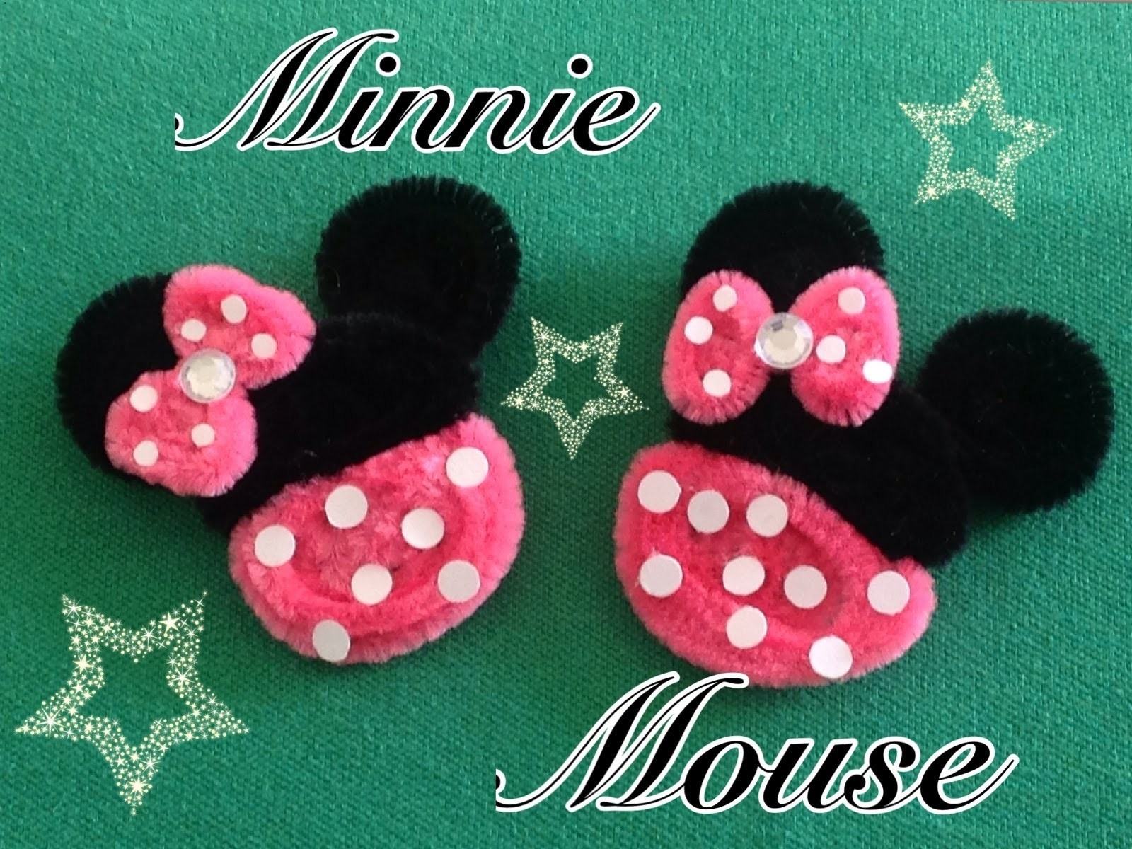 MINNIE MOUSE HECHA CON  LIMPIA PIPAS.- PIPE CLEANERS MINNIE MOUSE . DIY