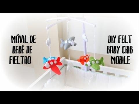 Móvil de fieltro para bebé - DIY baby felt crib mobile