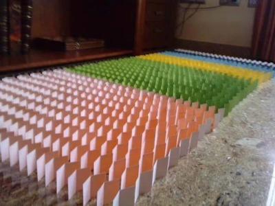 Paper Domino - Dominó de papel hecho en casa