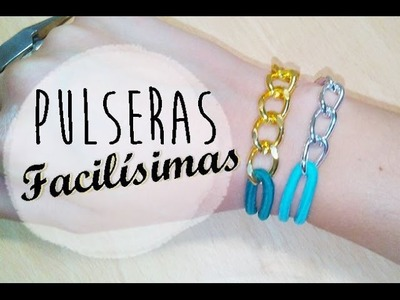 ❥ Pulseras FACILÍSIMAS con Gomas de pelo | Tutorial DIY