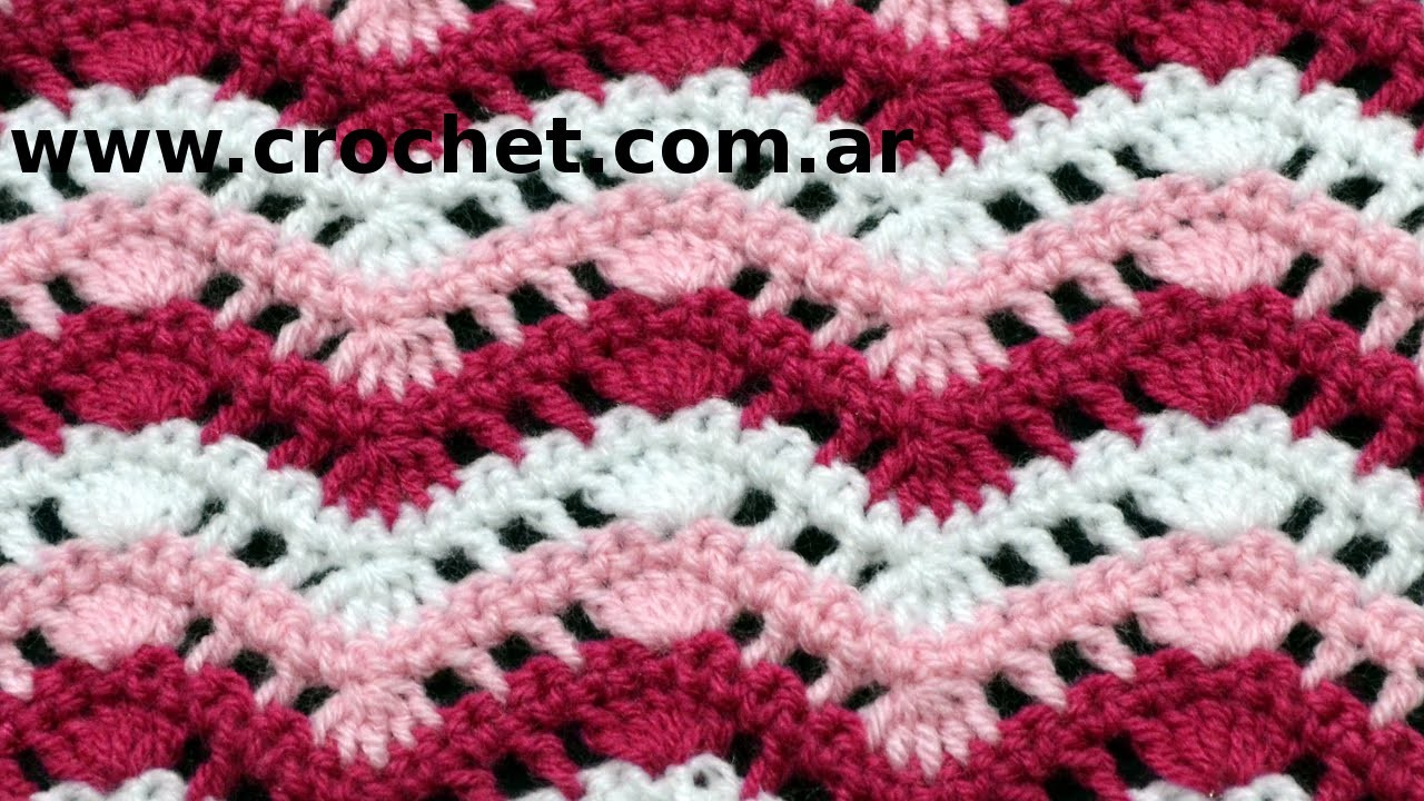 Punto Fantasía N° 38 en tejido crochet tutorial paso a paso.