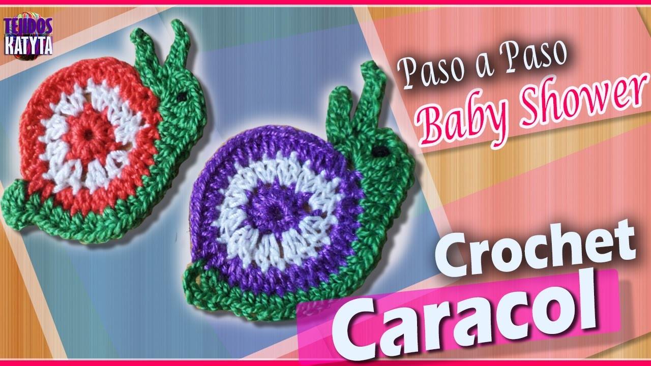 Recuerdo Para Baby Shower - CARACOL Tejido a Crochet