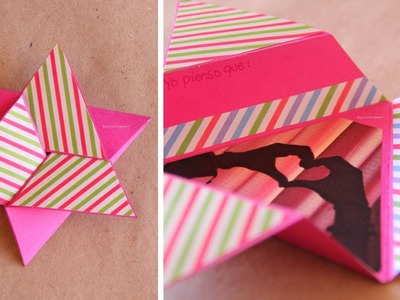 Tarjeta Estrella Scrapbook [FACIL]. Star card DIY