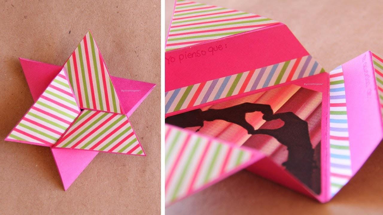 Tarjeta Estrella Scrapbook [FACIL]. Star card DIY