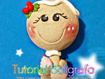 TUTORIAL Boligrafos Decorados Navideños - REGALOS DIY DECORACION COLD PORCELAIN