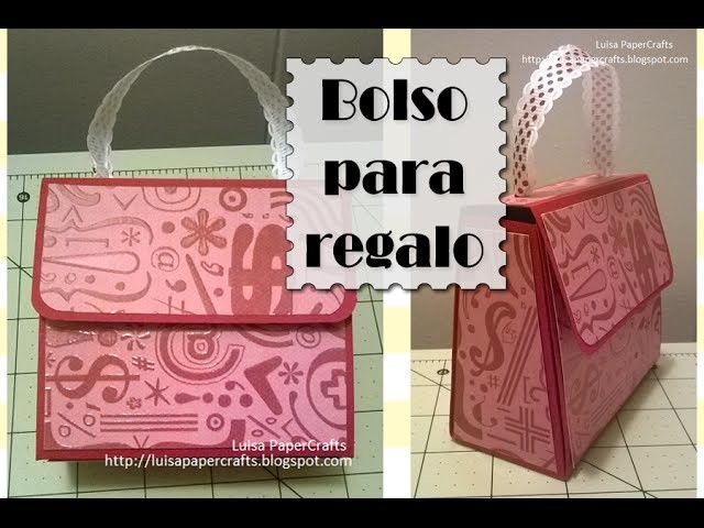 Tutorial Bolso para regalo. Paper Gift Bag Purse