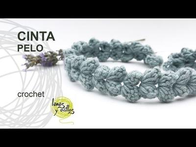 Tutorial Cinta Pelo Crochet o Ganchillo Fácil y Rápido