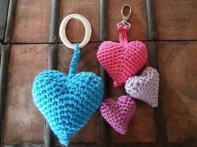 Tutorial corazon 3D crochet.ganchillo