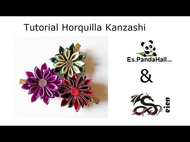 Tutorial horquilla Kanzashi Es.PandaHall.com