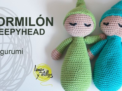 Tutorial Muñeco Dormilón Amigurumi Sleepyhead (English subtitles)