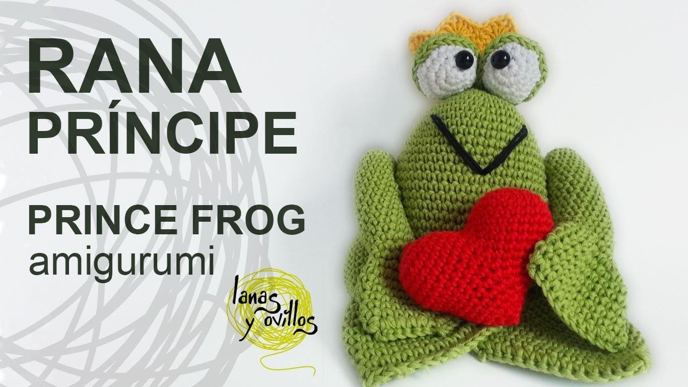 Tutorial Rana Príncipe Amigurumi Prince Frog(English Subtitles) San Valentín