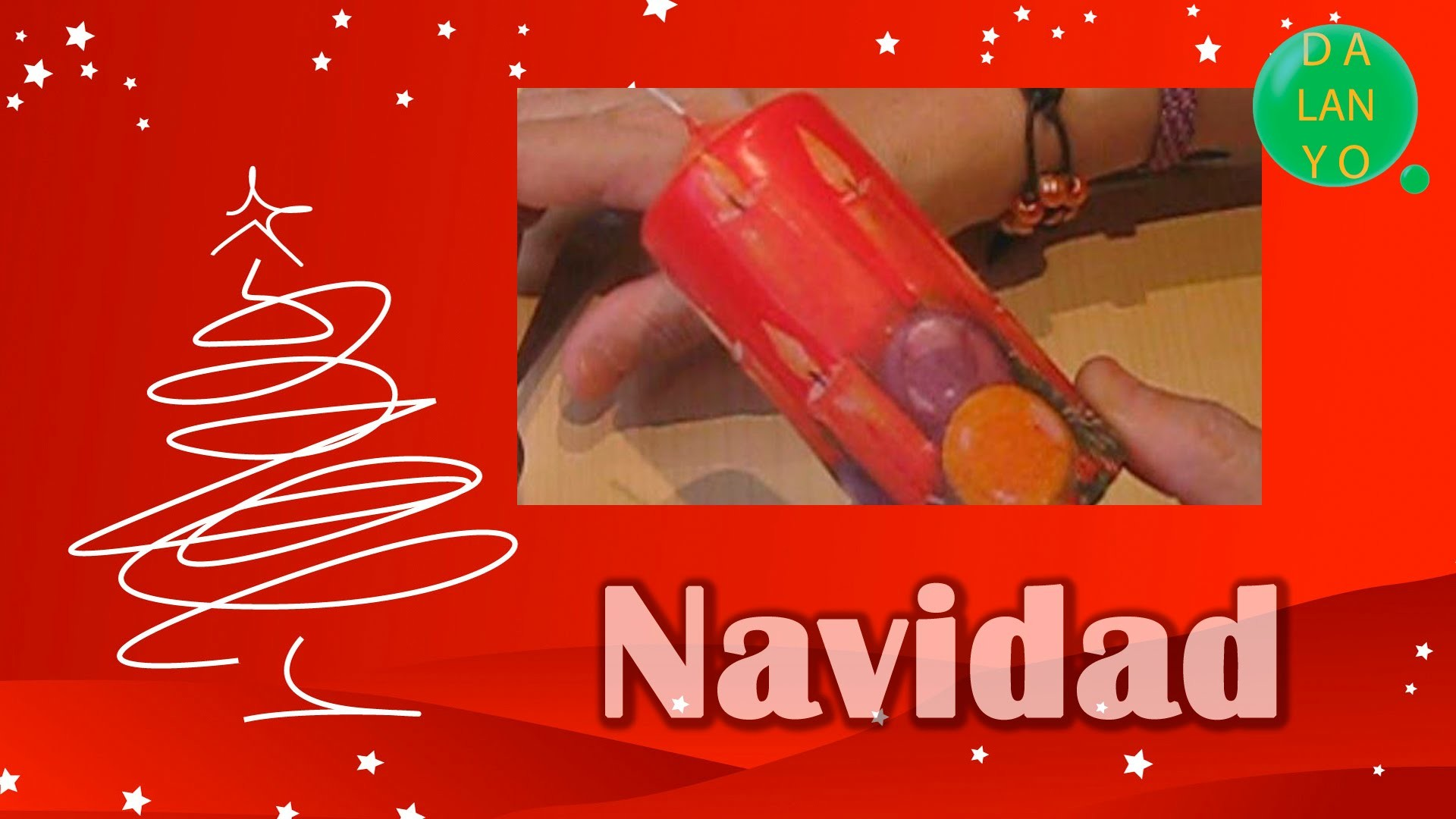 Vela navideña técnica de decoupage [English SUBS]   Navidad   Tutorial   DIY