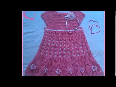 Vestido en crochet para niña de 4 años