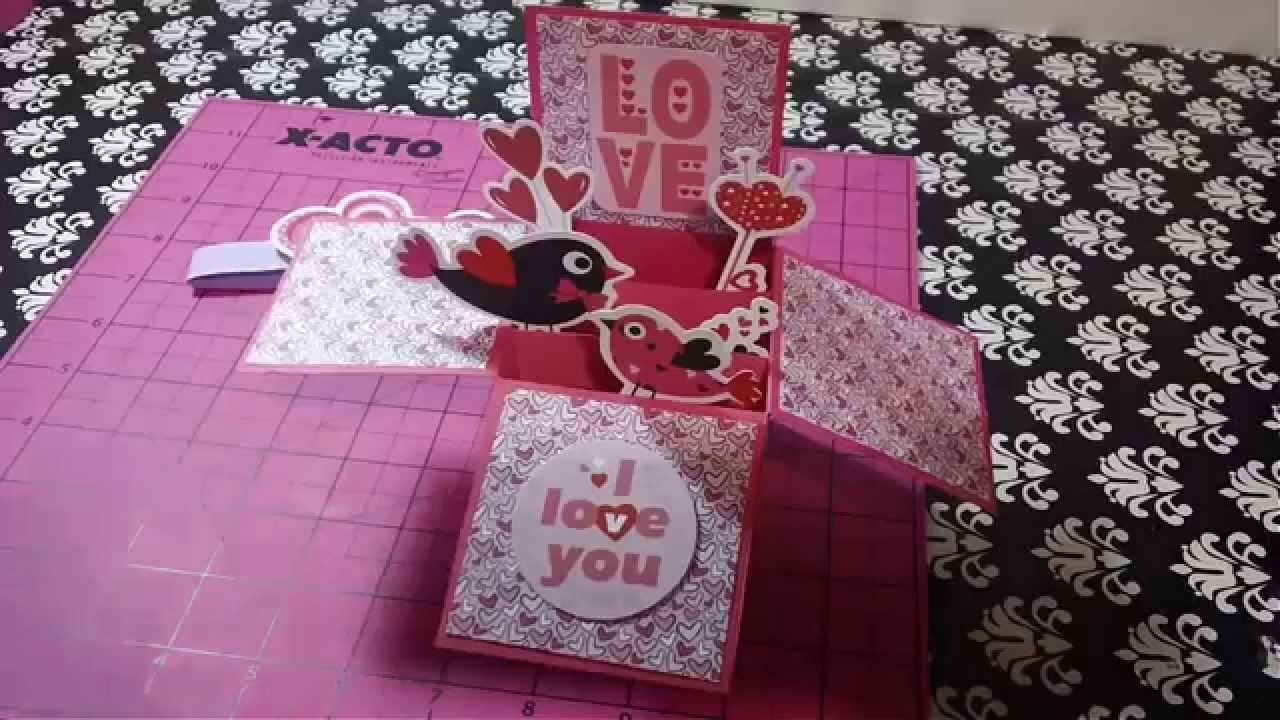 Carta caja 3D sorpresa scrapbook regales originales manualidades de amor para enamorados