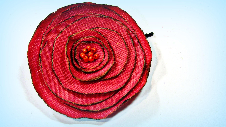 Cómo hacer rosas de tela. How to make fabric roses.