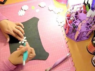 Cómo lograr efecto 3D en flores de papel. Scrapbook, tarjetería.
