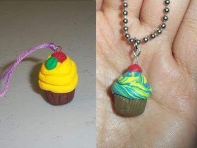 Manualidades de Arcilla Polimérica: cómo hacer una cadena con un charm de pastelito cupcake