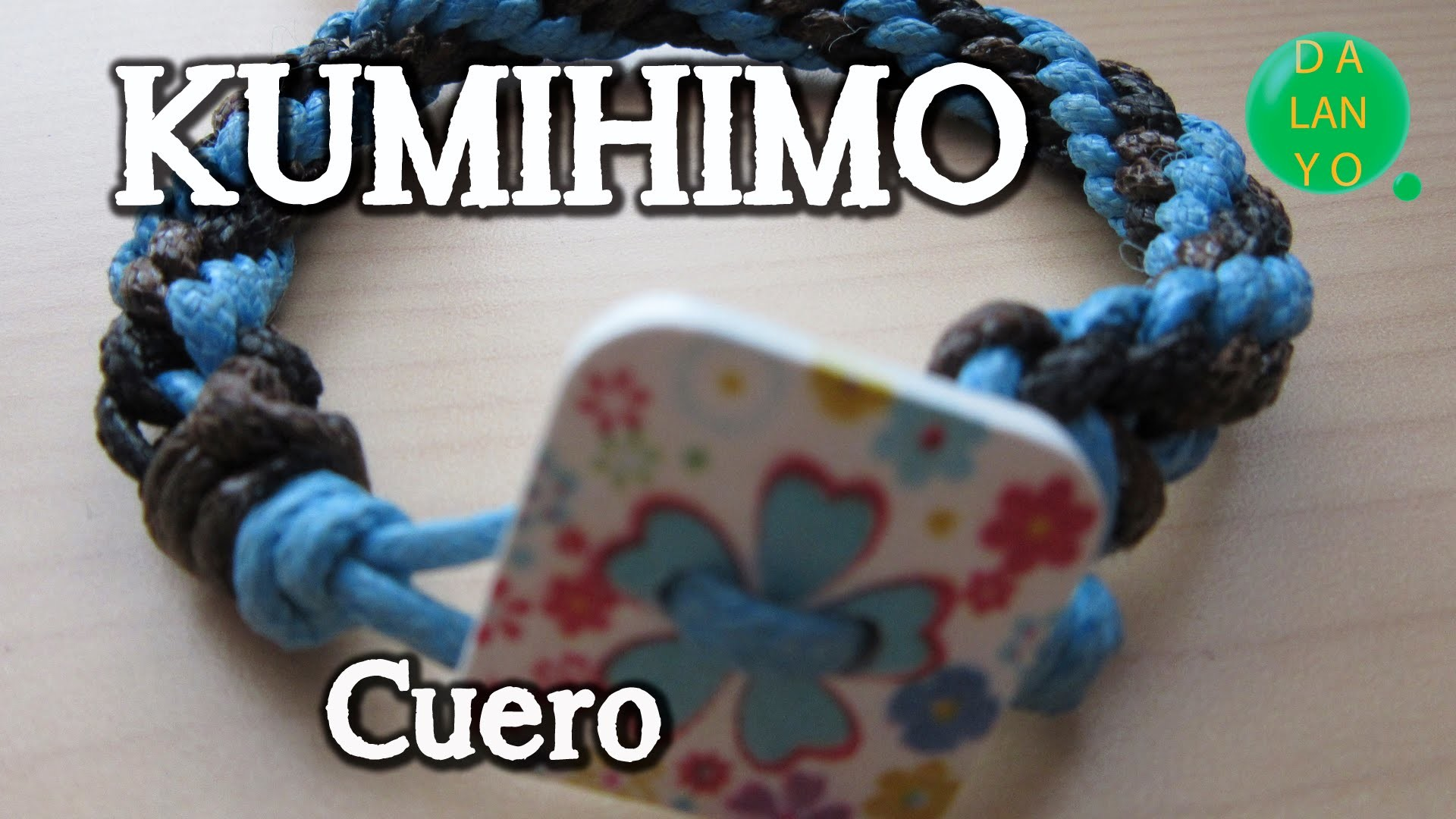 Pulsera redonda de cuero | Kumihimo | Tutorial | DIY