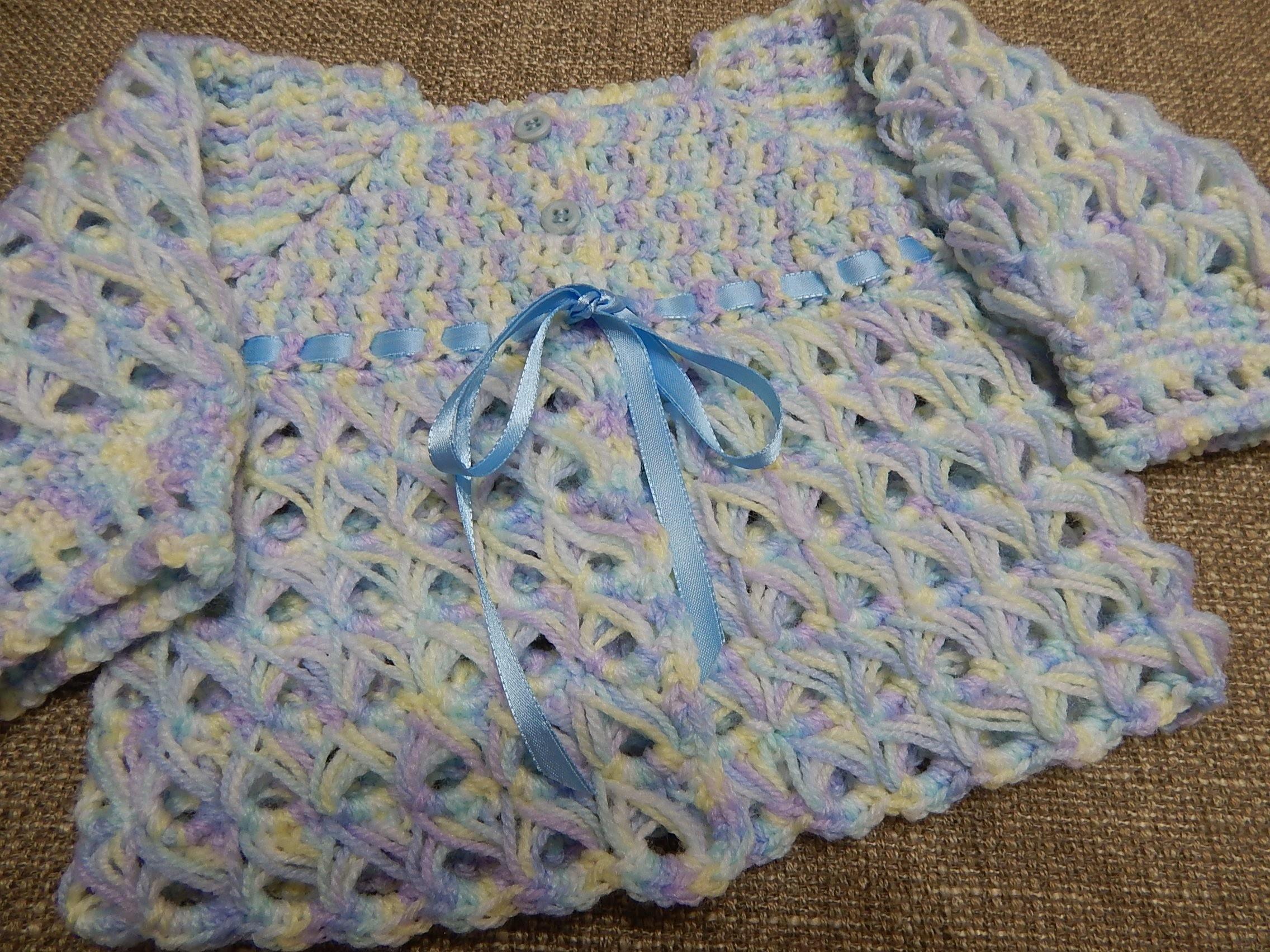 Suéter Bebe 0-3 Meses Crochet