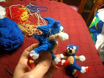 Sonic the hedgehog ( MIS MUÑEQUITOS DE CROCHET GANCHILLO)