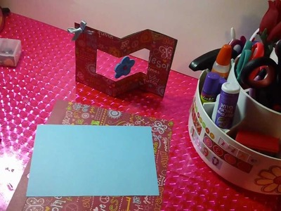 Tarjeta SCRAPBOOK DESLISABLE Y GIRATORIA  original