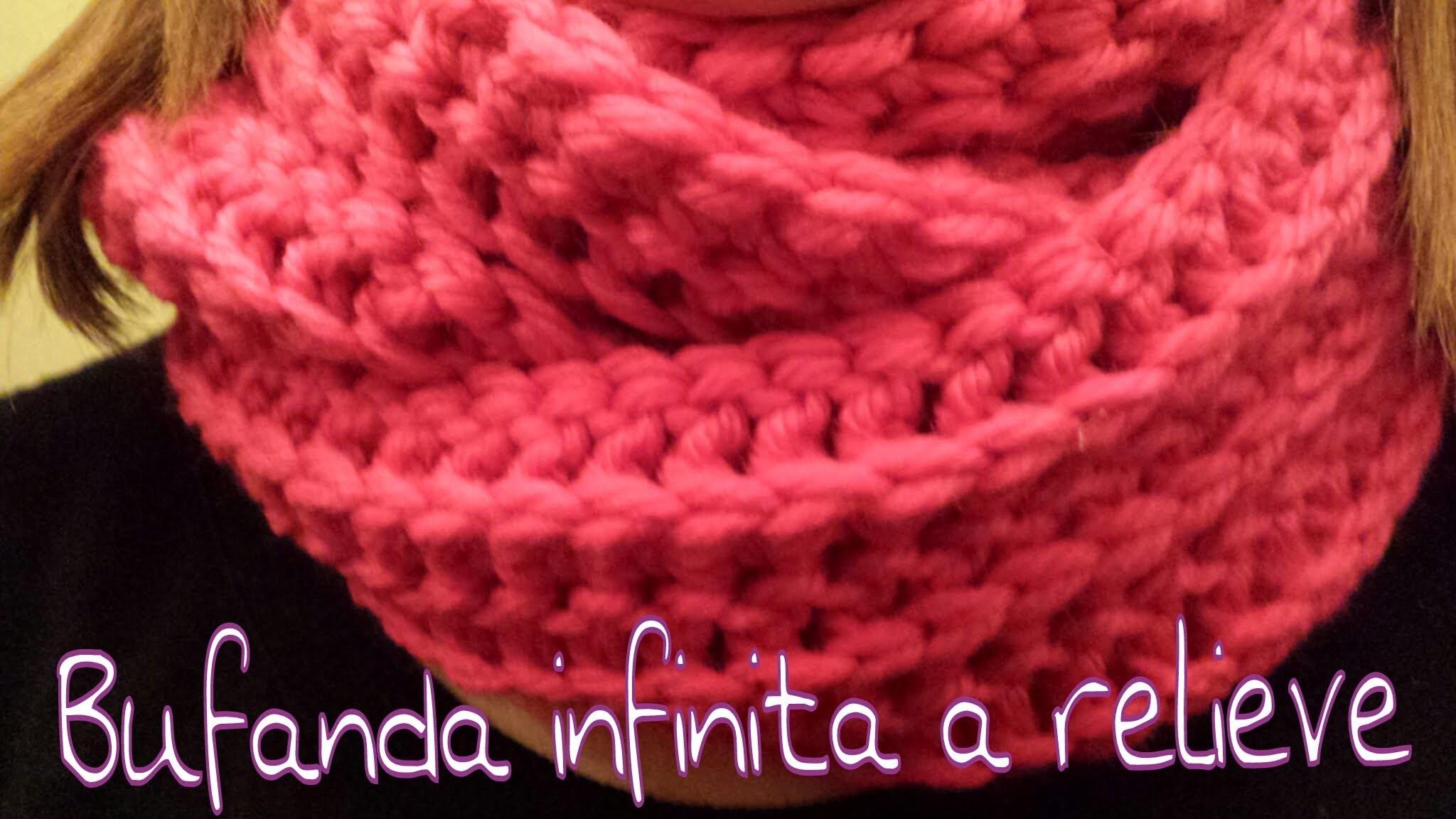Bufanda Infinita en relieve. Infinity scarf in reliel ! (English Subtitels)