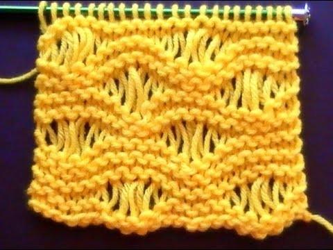 Como Tejer Punto Vainilla-Sea Foam Stitch (107)