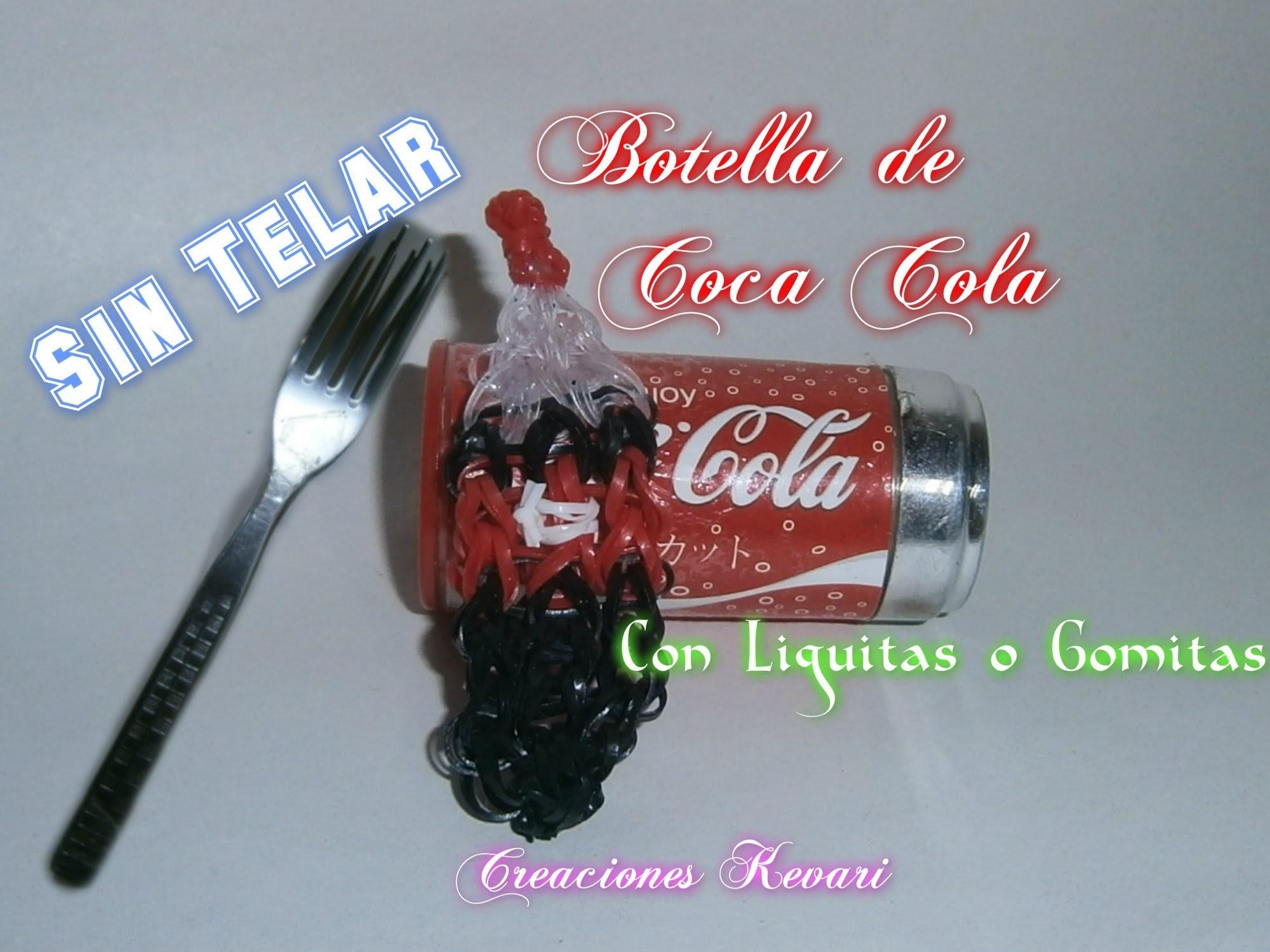 Como hacer una Coca Cola de Gomitas  Botella de Refresco ( Sin telar 2 tenedores).Soda Bottle Charm