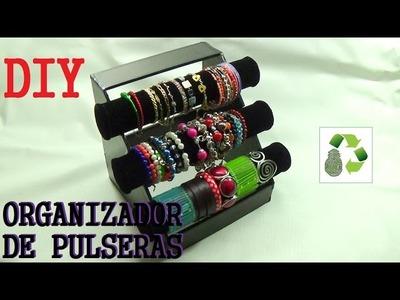 134. DIY ORGANIZADOR DE PULSERAS (RECICLAJE DE TUBOS DE CARTON)