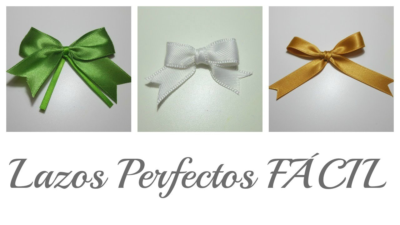 3 Trucos para hacer Lazos Perfectos   Perfect Bows   Mundo@Party