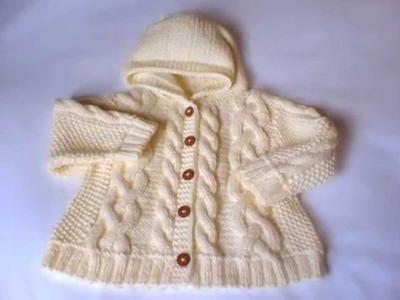 Abrigos tejidos a dos agujas para bebe