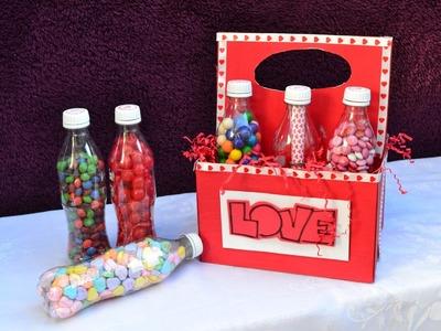 Botellas con dulces, el regalo perfecto para tu novio.a